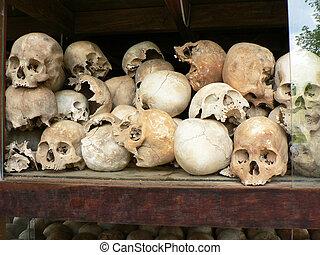 khmer, růž, cambodia., vězení