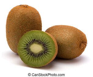 Kiwi ovoce izolované na bílém pozadí