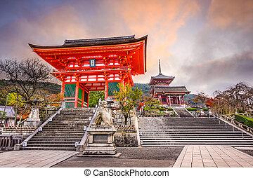 kiyomizu, chrám, kyoto