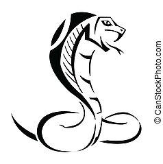 kobra, vektor, ilustrace