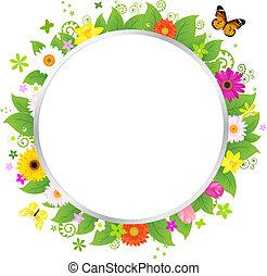 Koléb s květinami