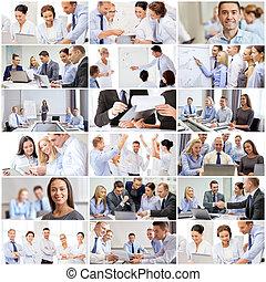 Koleda s mnoha obchodníky v kanceláři