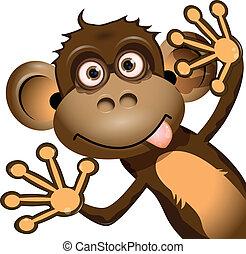 komický, opice