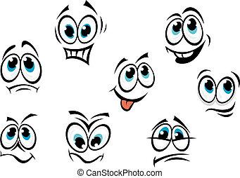 Komiksové kreslený tváře