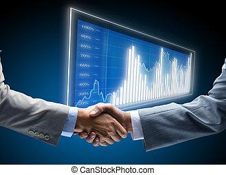 komunikace, diagram, povolání, grafické pozadí, pojem, práce, průvodce, přátelský, korporační, dohoda, přátelství, obchodník, náhoda, část, čerň, obchod, začátky, vystavit, ponurý, finance