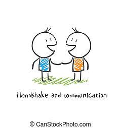 komunikace, handshake