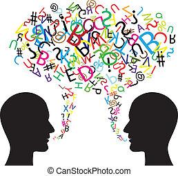 komunikace, znak