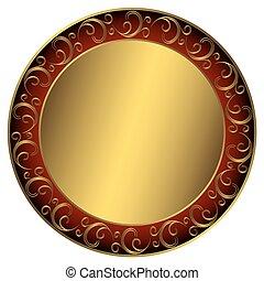konstrukce, golden-red-black