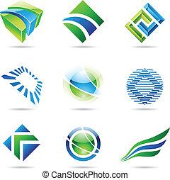 konzervativní, dát, abstraktní, ikona, 1, nezkušený, rozmanitý
