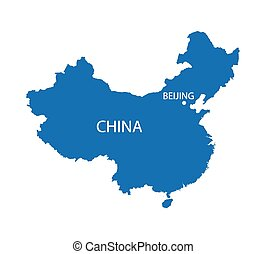 konzervativní, mapa, čína