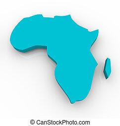 konzervativní, mapa, -, afrika
