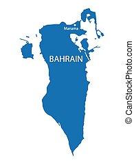 konzervativní, mapa, bahrain