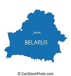 konzervativní, mapa, belarus