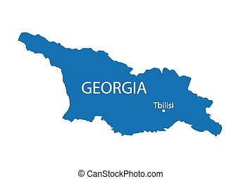 konzervativní, mapa, georgie
