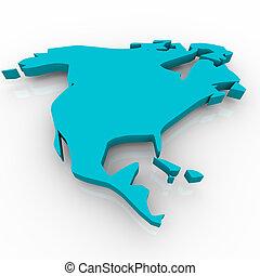 konzervativní, mapa, -, north america