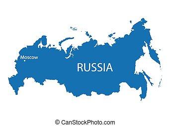 konzervativní, mapa, rusko