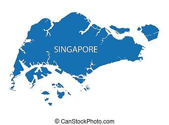 konzervativní, mapa, singapore