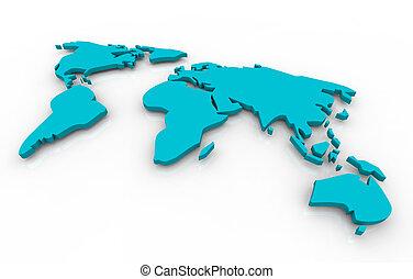 konzervativní, mapa, souhrnný, -, grafické pozadí, neposkvrněný