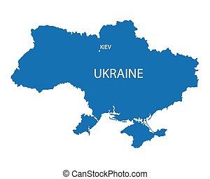 konzervativní, mapa, ukrajina