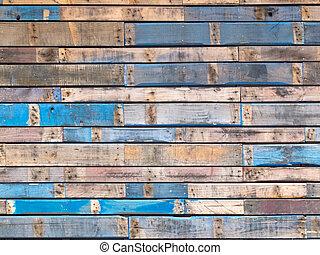 konzervativní, namalovaný, výhybka, dřevo, vnější, grungy, bod programu