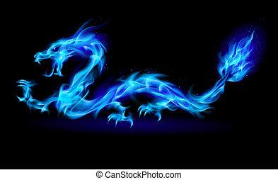 konzervativní, oheň, drak