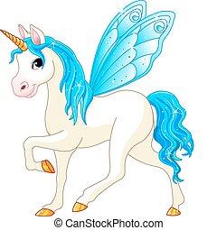konzervativní, víla, chvost, kůň