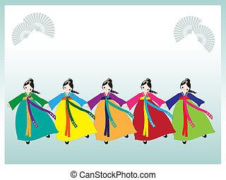 korejština, tanečník