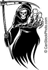 kosit, smrt, čerň, netvor