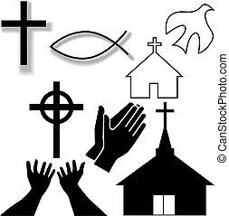 Kostel a další křesťanské symboly symbolů