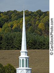 kostelní věž, země přivést do kostela