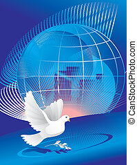 koule, mír, holub