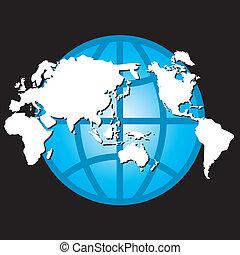 koule, mapa, vektor, design