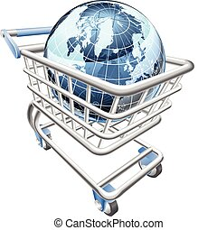 koule, nakupování, pojem, kára