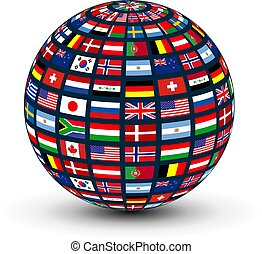 koule, společnost, vlaječka