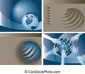 koule, vektor, grafické pozadí, 4