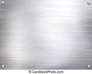 Kovová ocelová deska.