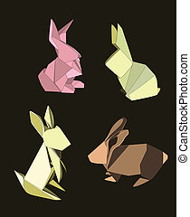 králík, origami, dát