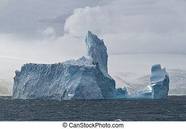 král, ledovec, ostrov, oceán, velký, od, břeh, jiří