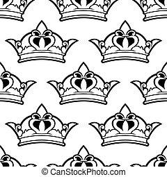 Královská koruna bezedný vzor