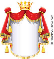 Královská majestátní mantle se zlatým korunou