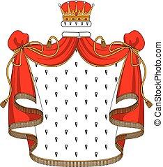 Královská rudá korunka se zlatým korunou