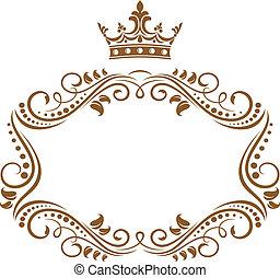Královský rám s korunou