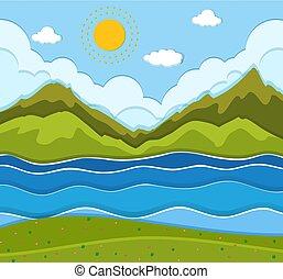 Krásná řeková krajina