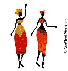 Krásná africká žena v kostýmu