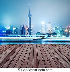 Krásná shanghaiská obloha v noci