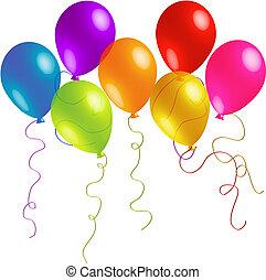 Krásné balónky s dlouhými stužkami
