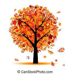 Krásný podzimní strom pro váš návrh
