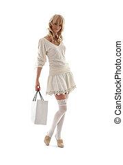 Krásnej blondýna s nákupním pytlem číslo 2