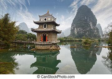 krajina, čína, guilin, yangshuo