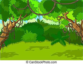 krajina, les, obrazný